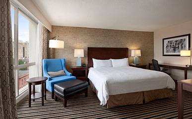 Boston King Bed Hotel Room